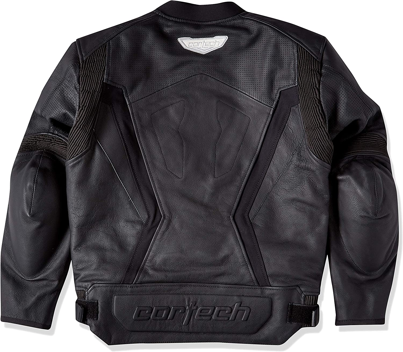 Cortech Mens Latigo 2.0 Leather Motorcycle Jacket White//Black, X-Large