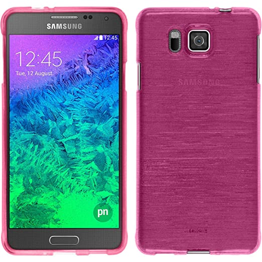 8 opinioni per PhoneNatic Custodia Samsung Galaxy Alpha Cover rosa caldo brushed Galaxy Alpha