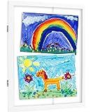 Pearhead Children's Artwork Storage Frame, White