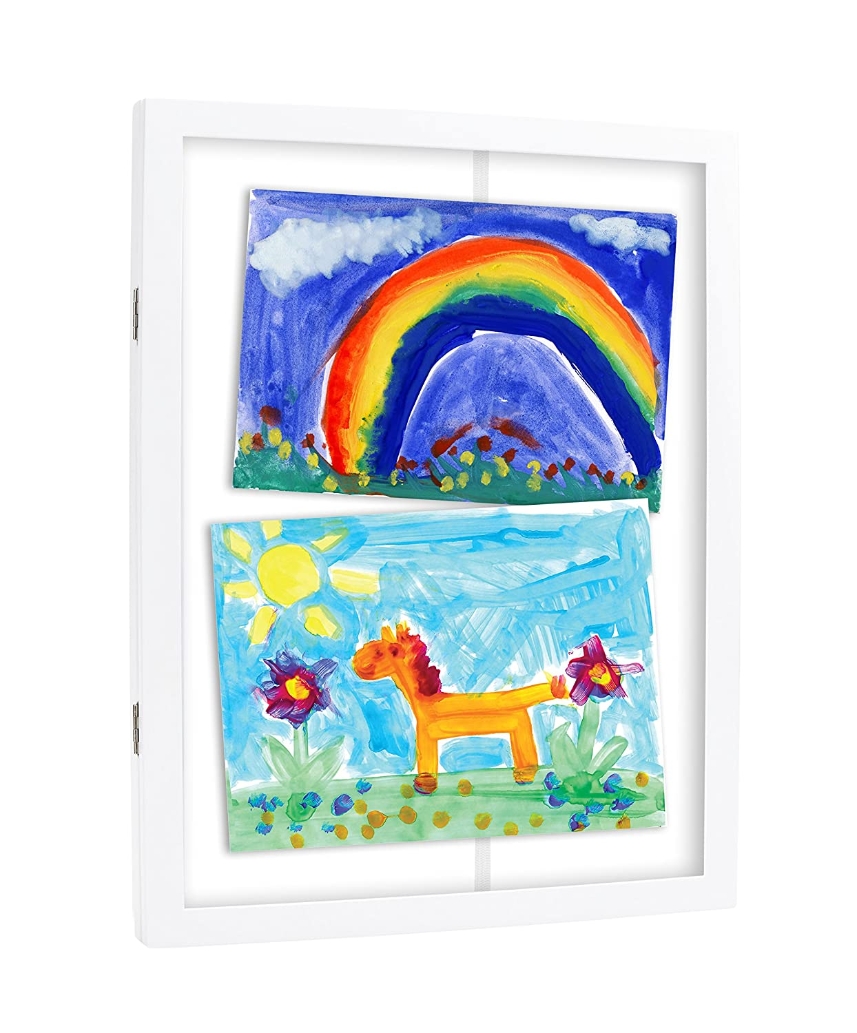 Amazon pearhead childrens artwork storage frame white baby jeuxipadfo Image collections