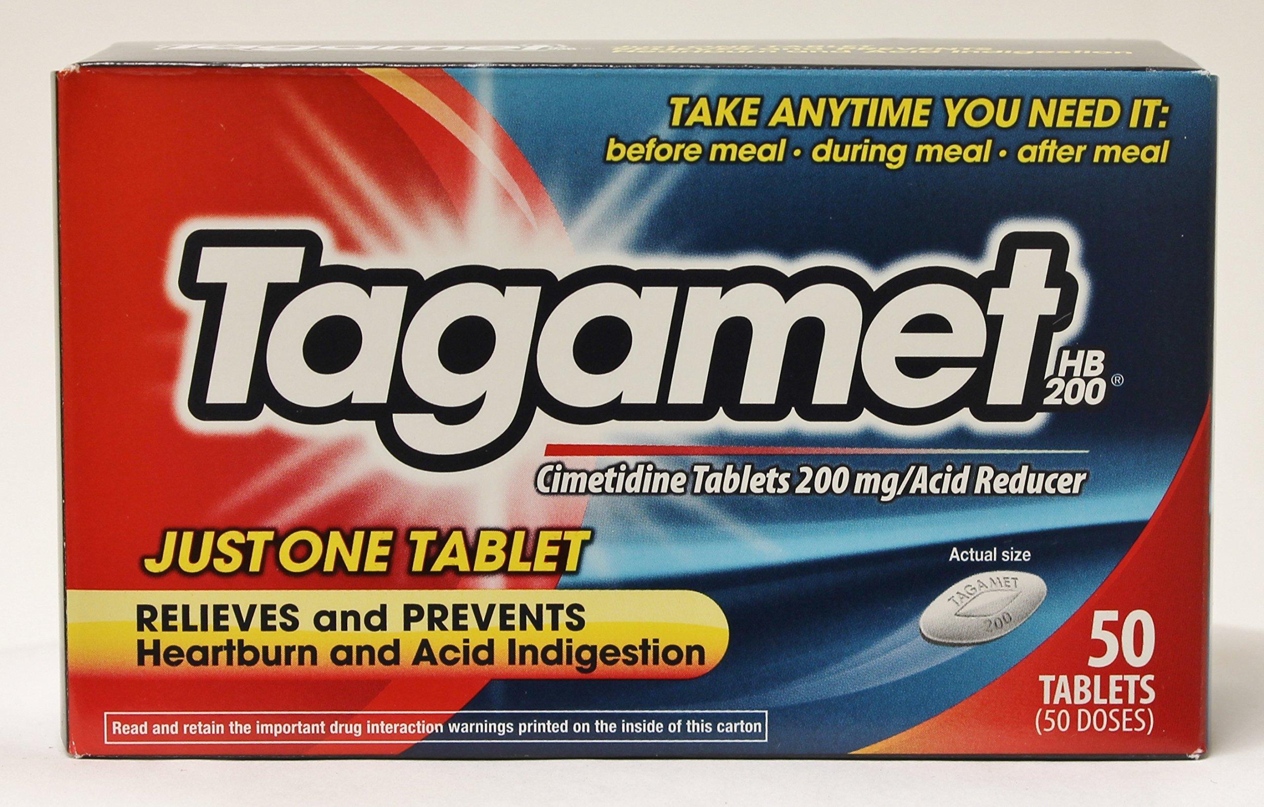 Tagamet Acid Reducer 200 mg 50 Tablets