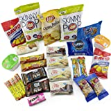 Healthy Diabetic Snack Box, 20 carbs or less Care Package with 27 Sweet & Salty Snacks, Variety Snack Box for Military Appreciation, Gift Basket of Snack Foods for College Students, (3 Lbs)