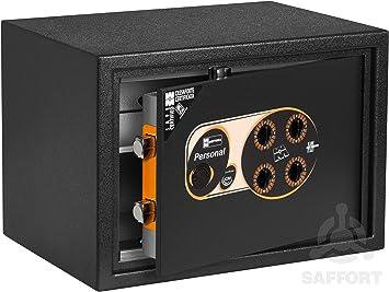 Caja Fuerte de pie con Cerradura de combinación mecánica de 4 dígitos, Negro: Amazon.es: Bricolaje y herramientas