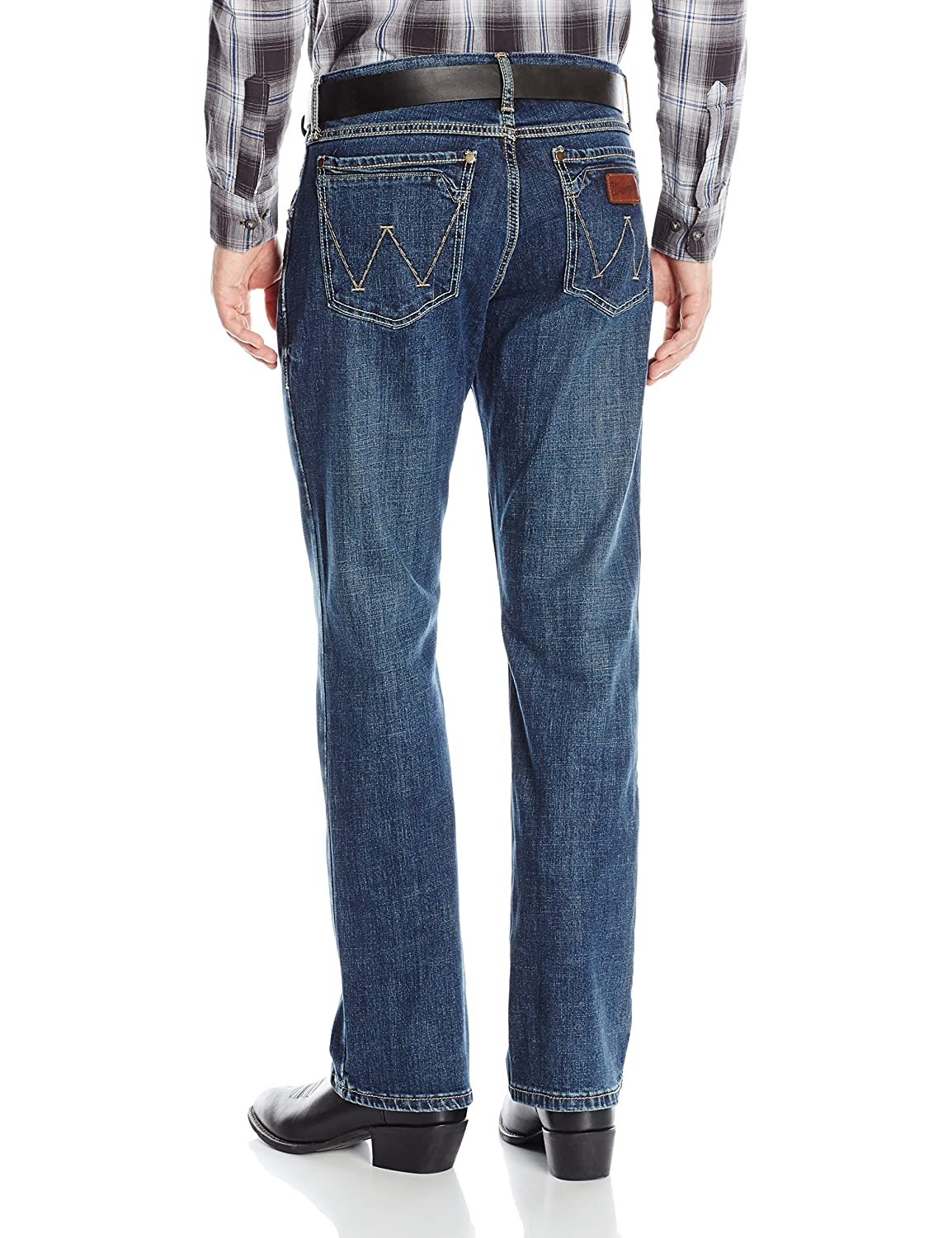 Wrangler Mens Retro Slim Fit Boot Cut Jeans, Layton, 36x36 ...