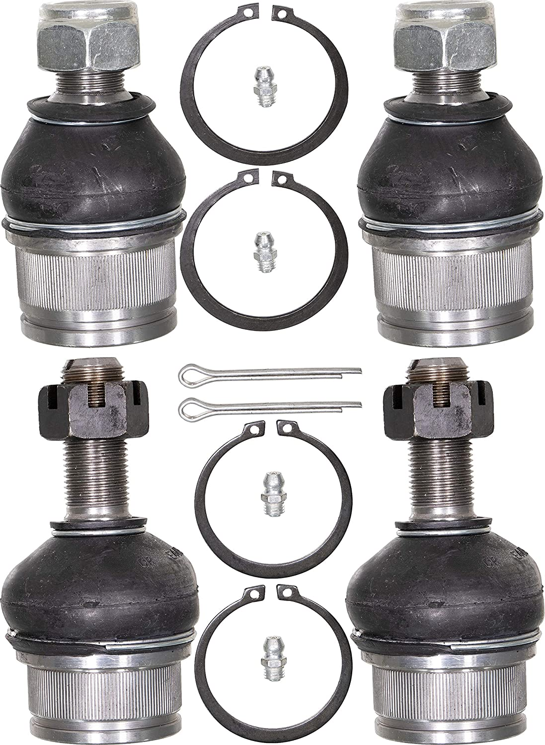 4-Wheel Drive Models Only; Grease-able Design w//Zerts; Front Upper /& Lower Left /& Right APDTY 141447 Ball Joint Set Of 4 Fits 1999-2015 Ford F250 F350 F450 Super Duty Pickup 2000-05 Excursion