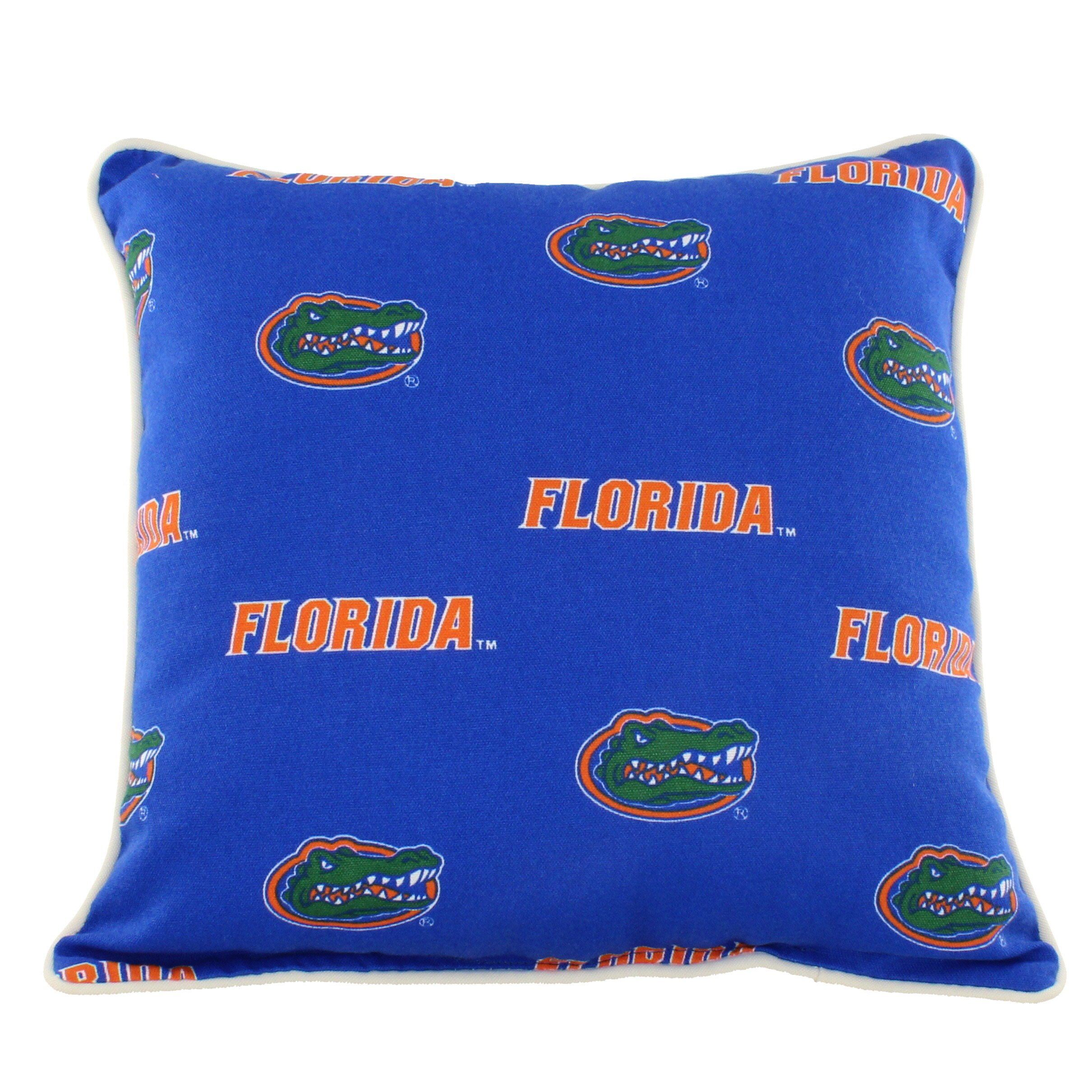 College Covers FLOODP Florida Gators Outdoor Decorative Pillow, 16'' x 16'', Blue