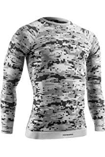 Tervel Mens Optiline Digital Shirt Long Sleeve Sand//Grey