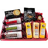 GOURMET Gift Basket - features Smoked Summer Sausages, 100% Wisconsin Cheeses, Crackers, Pretzels and Sweet & Tangy Mustard | Great for Tailgating, Superbowl & Football Parties