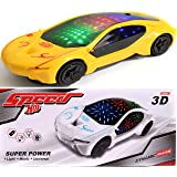 Funkey™ 3D Super Car Toy – Car Toy for Kids with 360 Degree Rotation Sound & Light Toys for Kids Boys & Girls. (Assorted Colors) ( Color May Vary )