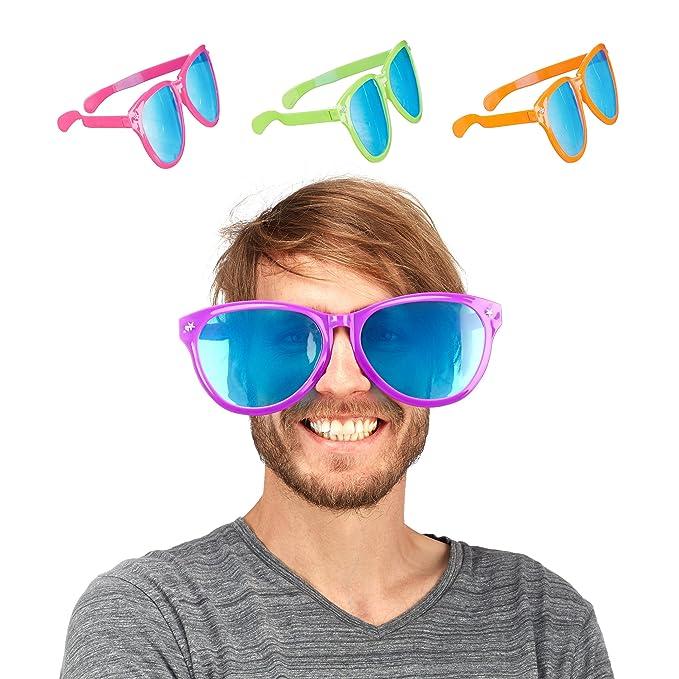 Gafas de fiesta gigantes de colores varios - 25cm.