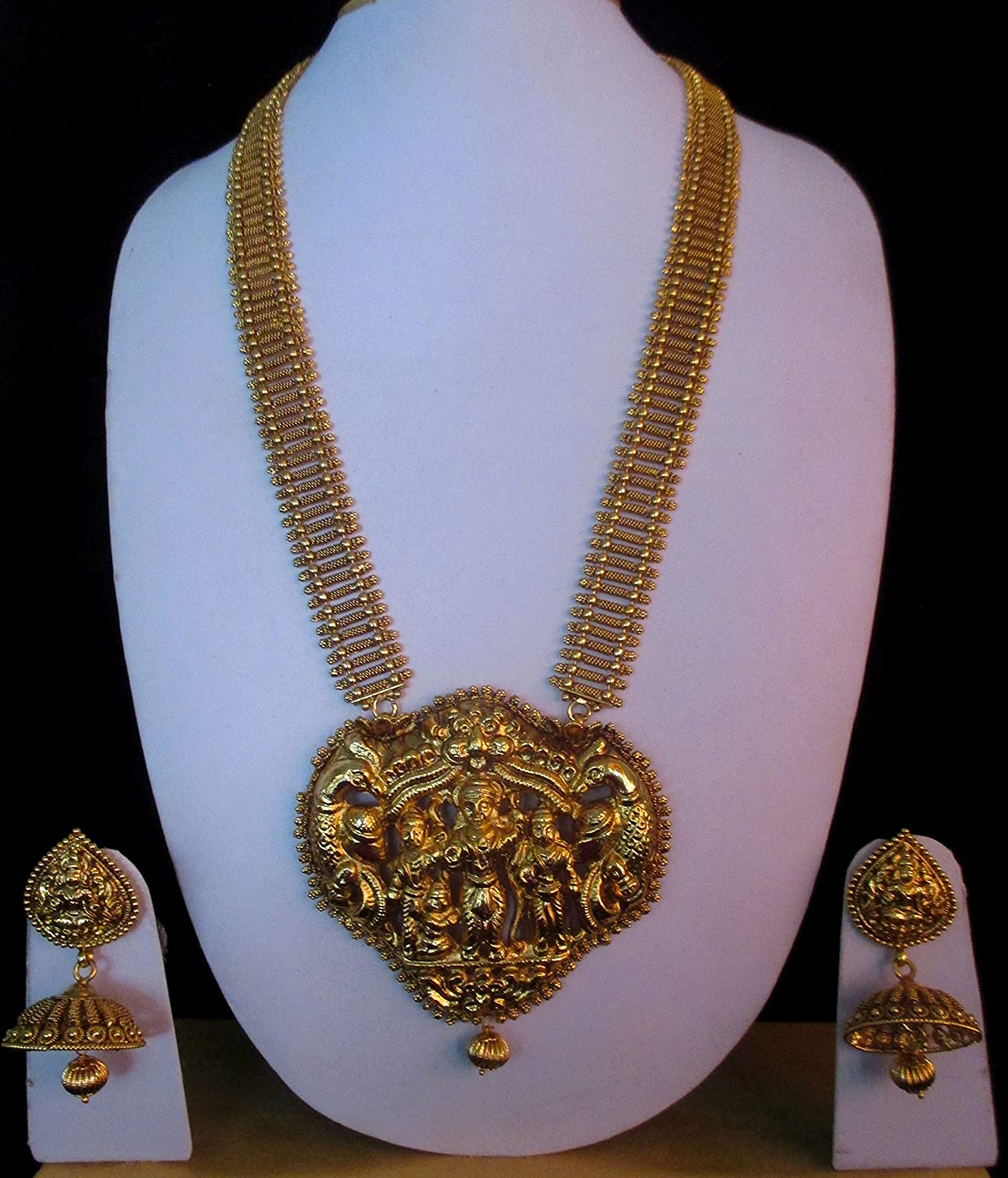 Buy One Gram Gold Plated Traditional Long Haram Gold Design Nagas ...