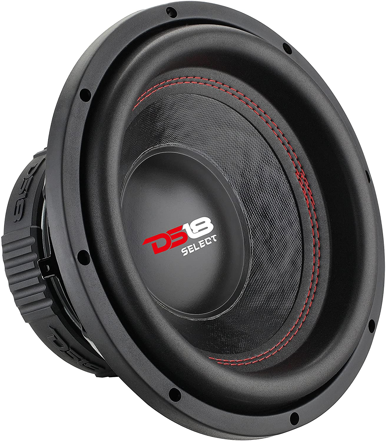 DS18 SLC10S Car Subwoofer Audio Speaker 440W MAX Power and Foam Surround for Vehicle Stereo Sound System 10 in Black Steel Basket Paper Glass Fiber Cone Single Voice Coil 4 Ohm Impedance