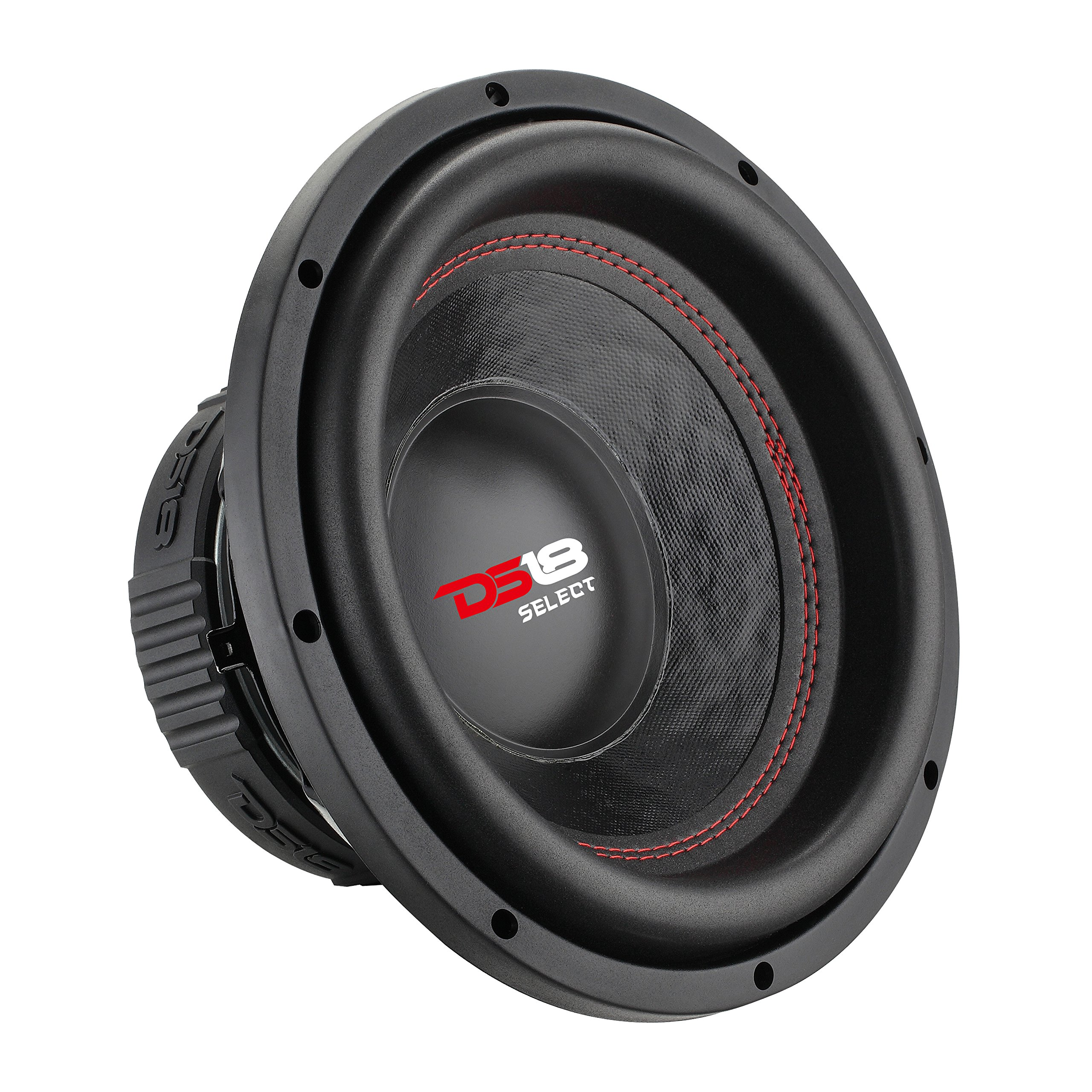 DS18 SLC8S Car Subwoofer Audio Speaker - 8'' in. Paper Glass Fiber Cone, Black Steel Basket, Single Voice Coil 4 Ohm Impedance, 400W MAX Power and Foam Surround for Vehicle Stereo Sound System