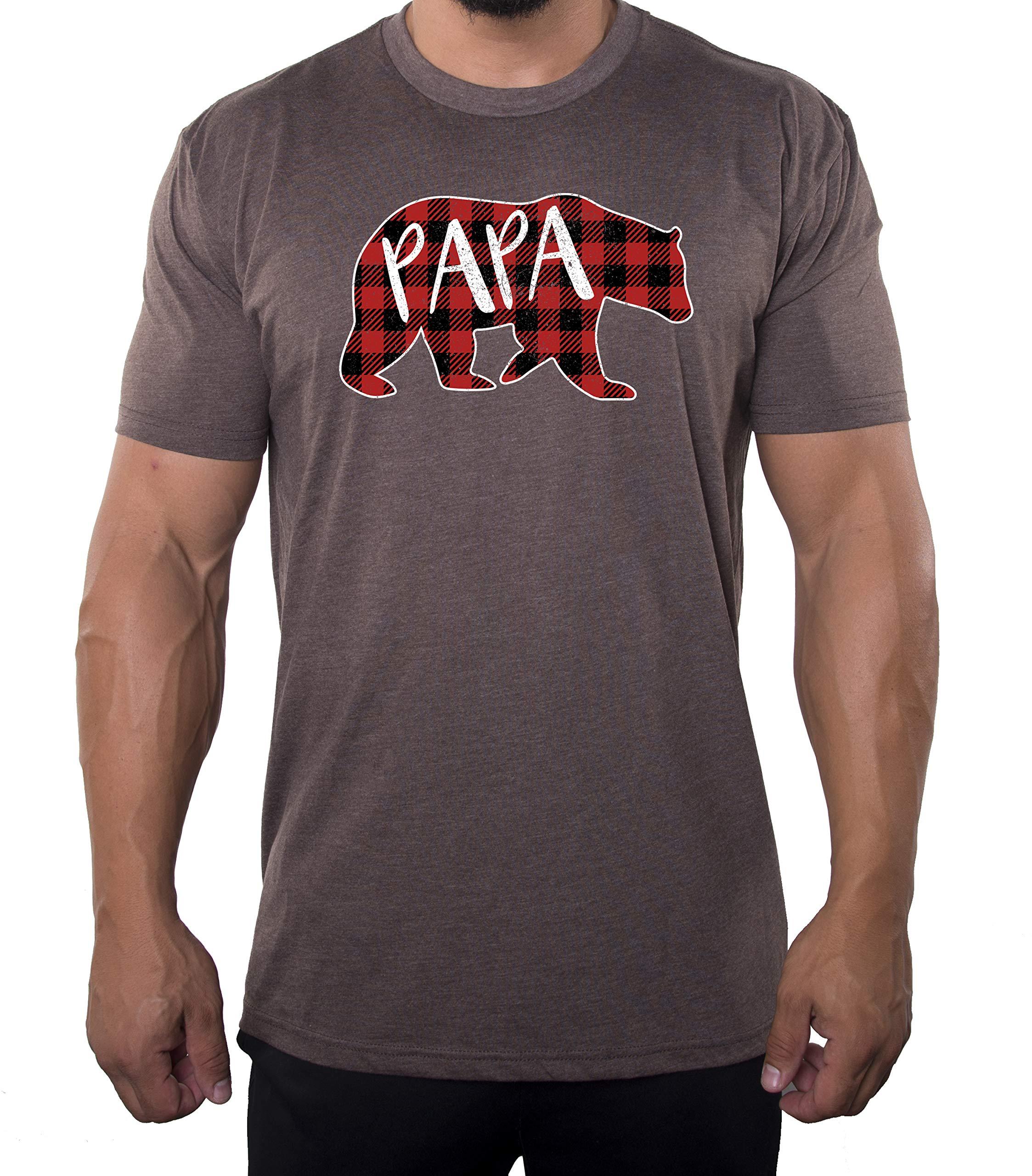 Papa Bear Shirt With Buffalo Plaid Shirts Cool Shirts For Dad 3439