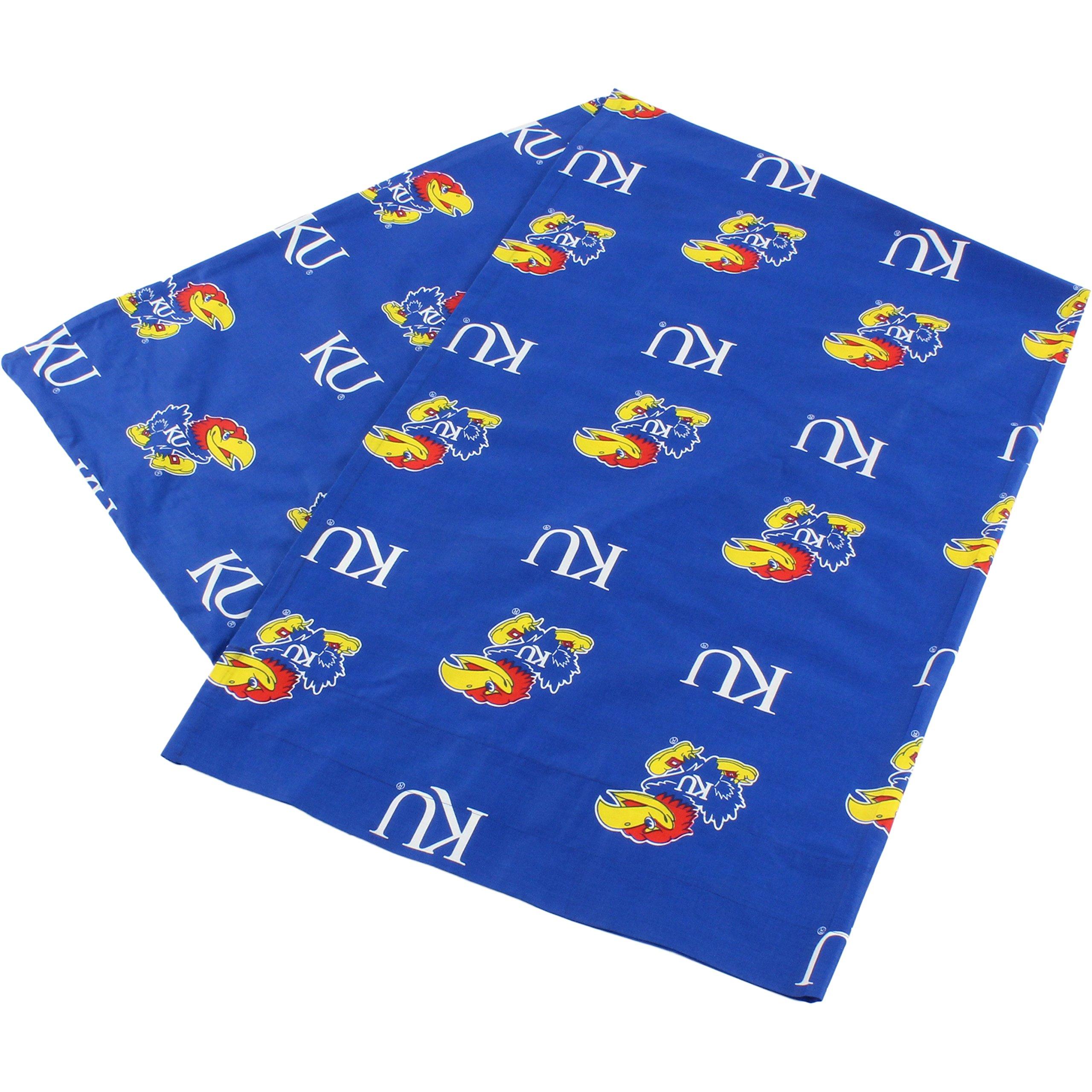 College Covers Kansas Jayhawks Pillowcase Only-Body Pillow, 20'' x 60'', Blue