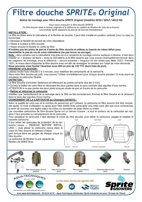 Sprite Industries - Filtro para ducha (acabado cromado, incluye cartucho Chlorgon KDF): Amazon.es: Salud y cuidado personal