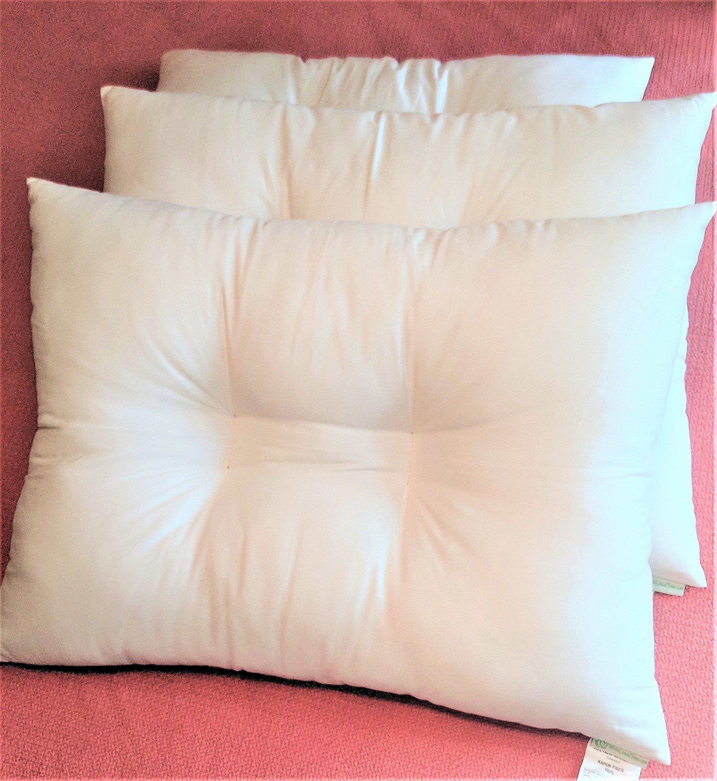 White Lotus Home KaPillow-Kapok Contour Sleeping Pillow, Queen/Medium