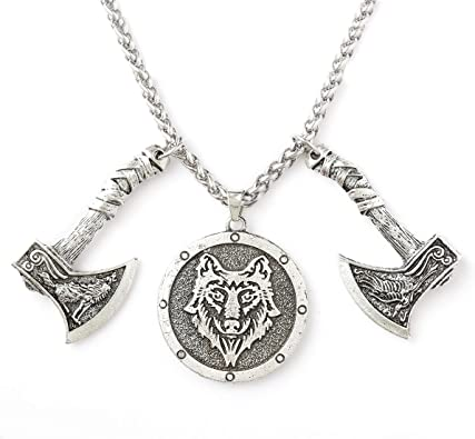 Sterling Silver Axe Charm on a Silver Cable Chain Axe Necklace