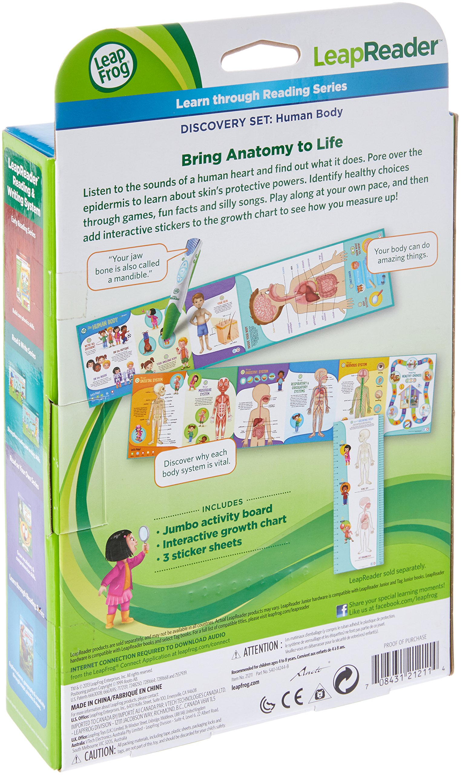 LeapFrog LeapReader Interactive Human Body Discovery Set (works with Tag) by LeapFrog (Image #2)