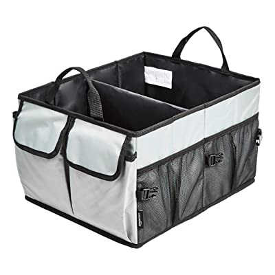 Basics Trunk Organizer with Collapsible Design for Cars, SUVs, and Trucks - Grey: Automotive