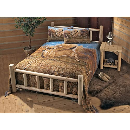 Log Bed Frame Amazon Com