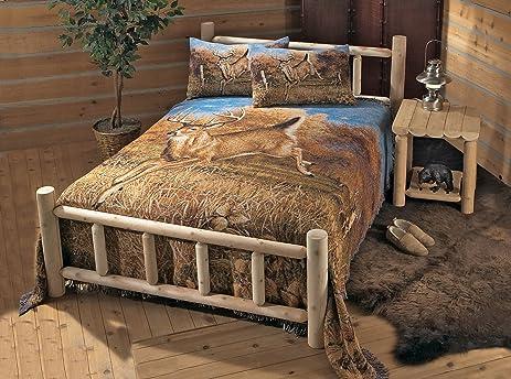 Amazon.com: CASTLECREEK Cedar Log Bed Full: Kitchen & Dining