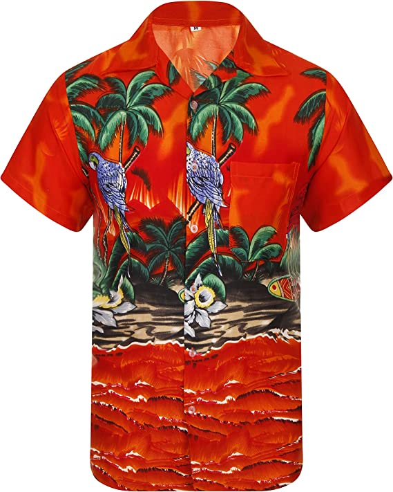 Lugares donde hay mucho ruido diseño de aves Aloha para hombre con estampado de con motivos hawaianos camiseta de manga corta Hawaii diseño de playa de perro de peluche con botellas de