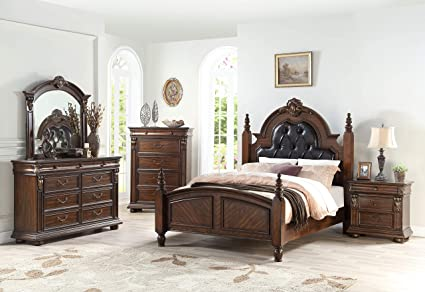 Amazon.com: Esofastore Traditional Formal Bedroom Furniture ...