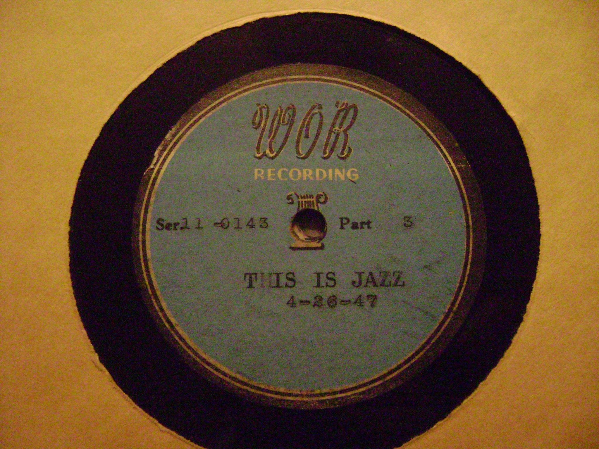 ''This Is Jazz'' Set Of 12'' Acetate Transcriptions: Rudi Blech Radio Program WOR