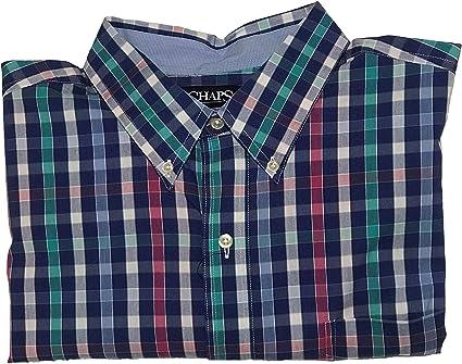Chaps Hombre 738C01 con Botones Manga Larga Camisa de Botones ...