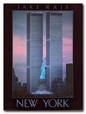 memorial world trade center statue of liberty new york city wall art print poster