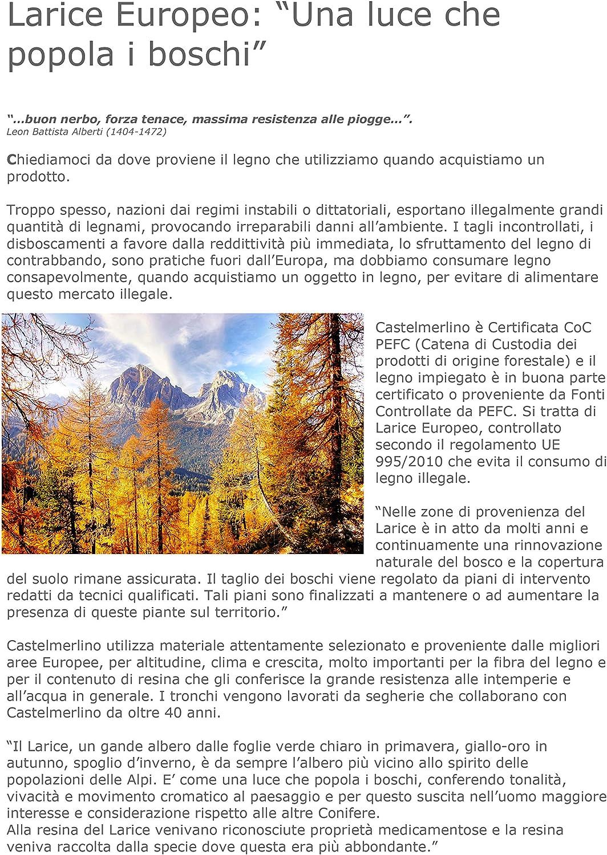 Castelmerlino 29 Tavolo Doppio Pieghevole Larice cm 120 x 80