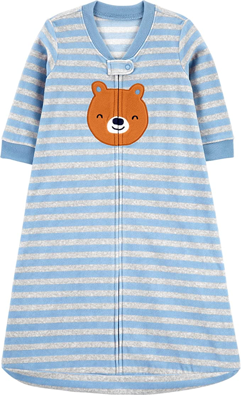 Carter/'s Infant Set of 2 Sleep Sacks Blue Paw Prints /& Gray Hedgehogs NWT baby