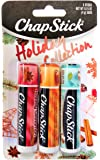 Chapstick Holiday Collection 2017, Pack of 3, Holiday Cinnamon, Caramel Creme & Holiday Cocoa, 0.15 Oz Ea