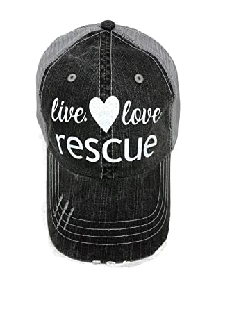 3dfa97fe42264 Image Unavailable. Image not available for. Color  White Glitter Live Love Rescue  Grey Trucker Baseball Cap Pet Animal Dog Cat