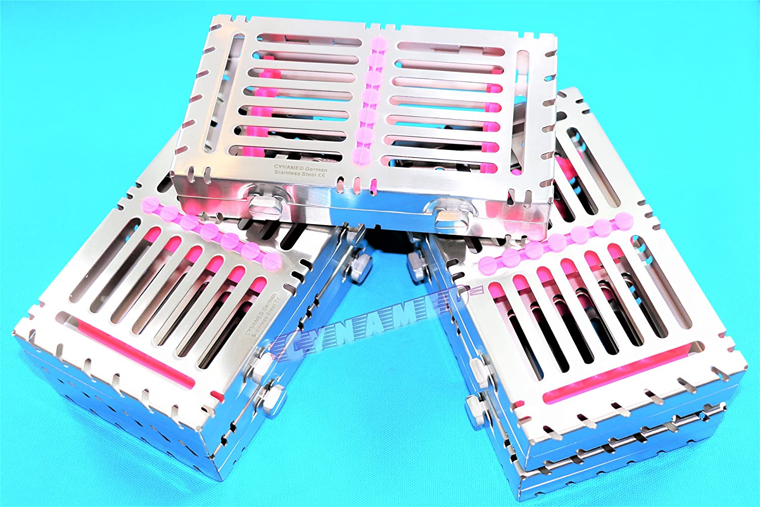 5PCS Detachable Sterilization Cassette Rack for 7 Instruments with Double Button CYNAMED