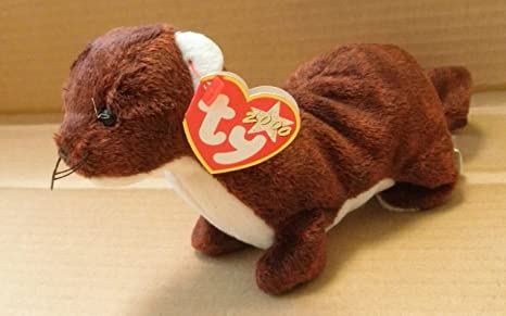21105235ab7 Image Unavailable. Image not available for. Color  TY Beanie Babies Runner  the Ferret Stuffed Animal ...
