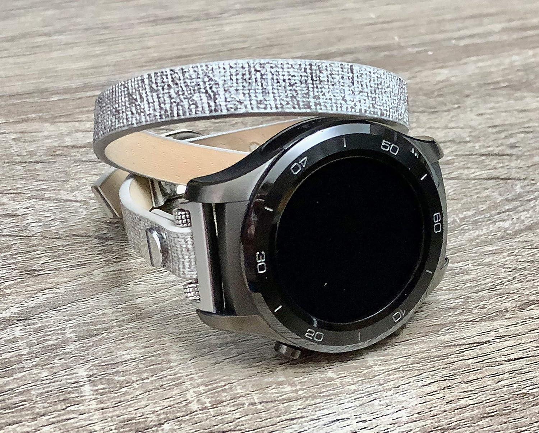 Amazon.com: Fashion Grey Vegan Leather Bracelet For Huawei ...