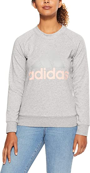 TALLA M. Adidas Sudadera Mujer ESS Lin Sweat Gris