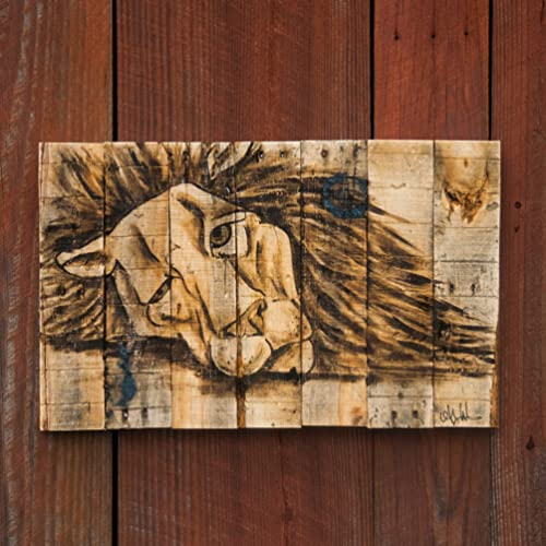 Safari Nursery Rustic Home Decor Animal Art Animal Decor Lion Painting Lion  Art Lion Wall Art