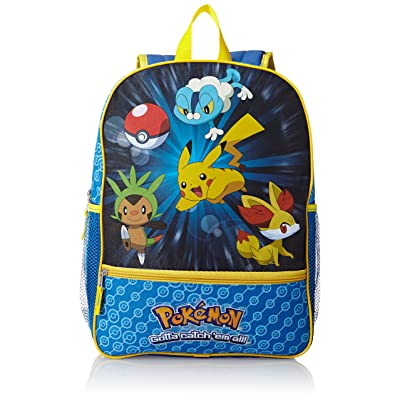 FAB Starpoint Little Boys' Pokemon 16 Inch Backpack, Multi, One Size: Clothing