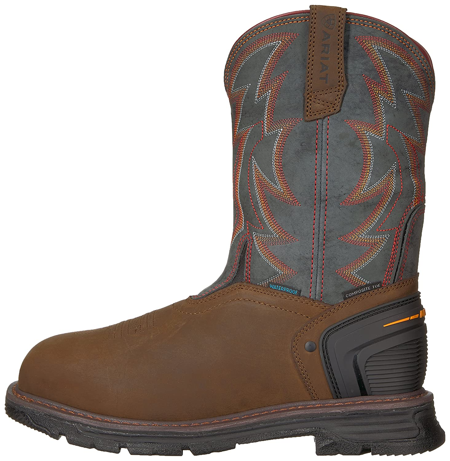 Men's Ariat Catalyst Thunder VX H2O Composite Toe Work Boot, Size: 7.5 D, Oily Distressed Brown Leather