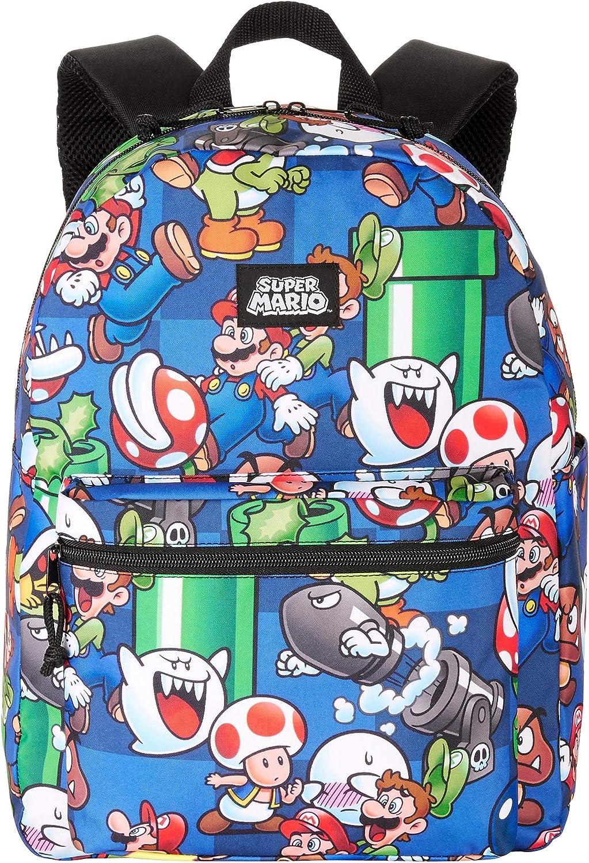 Super Mario Bowser printing canvas backpack student School bag
