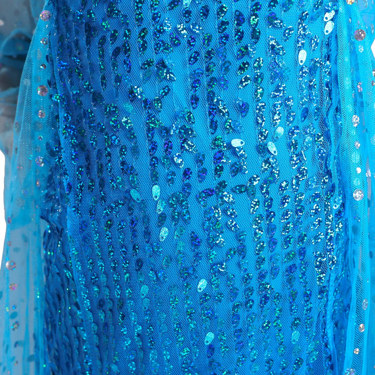 Lito Angels Girls Princess Elsa Dress Up Costumes Halloween Party Dress Gown Sequined with Accessories