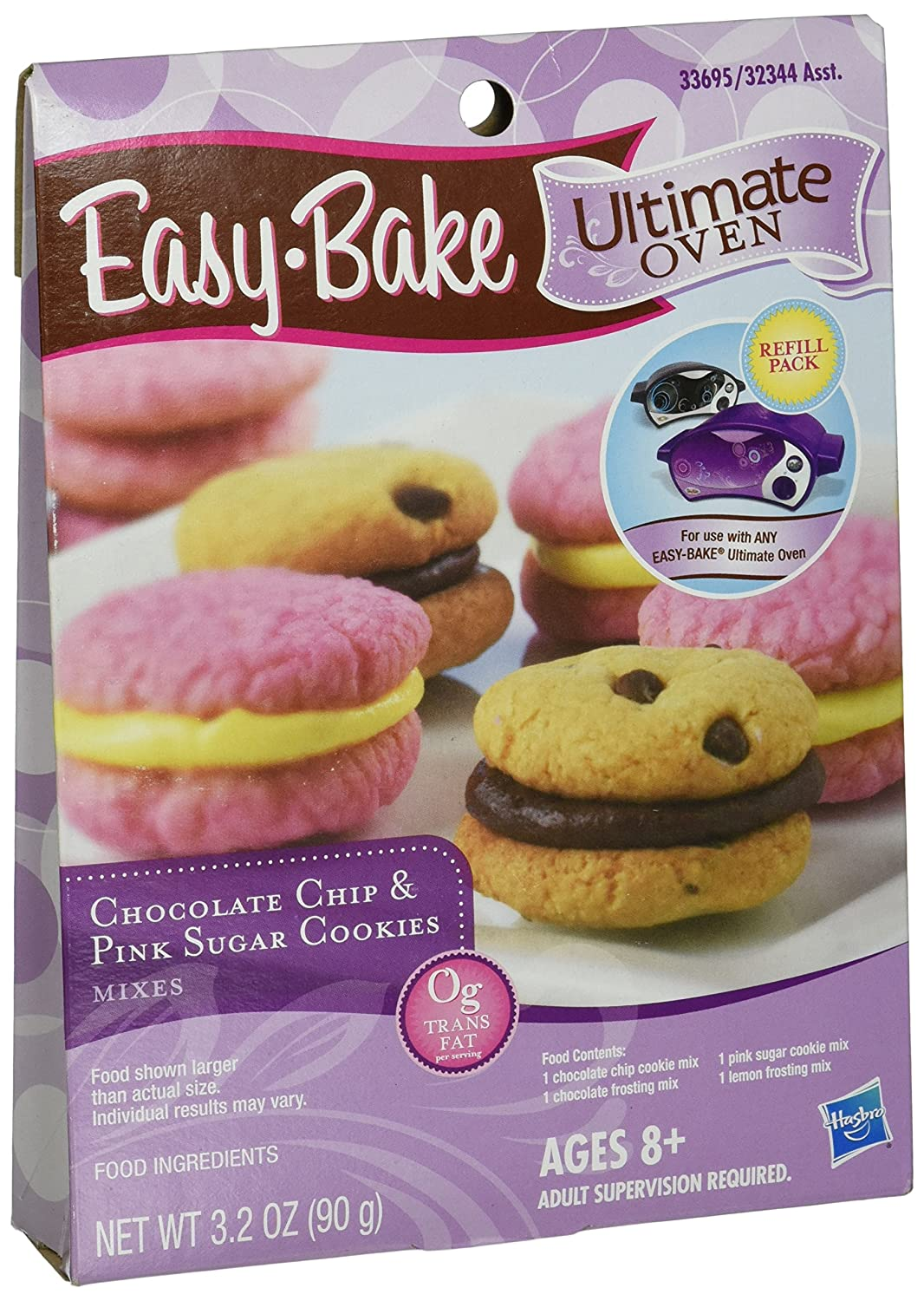 Easy-Bake Ultimate Oven Chocolate Chip and Pink Sugar Cookies Refill Pack, 3.2 oz