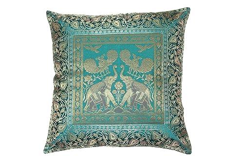 Amazon.com: Funda de cojín cuadrada de seda para decoración ...