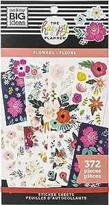 ME & MY BIG IDEAS Happy Planner STCKRS, Flowers, 372/Pkg