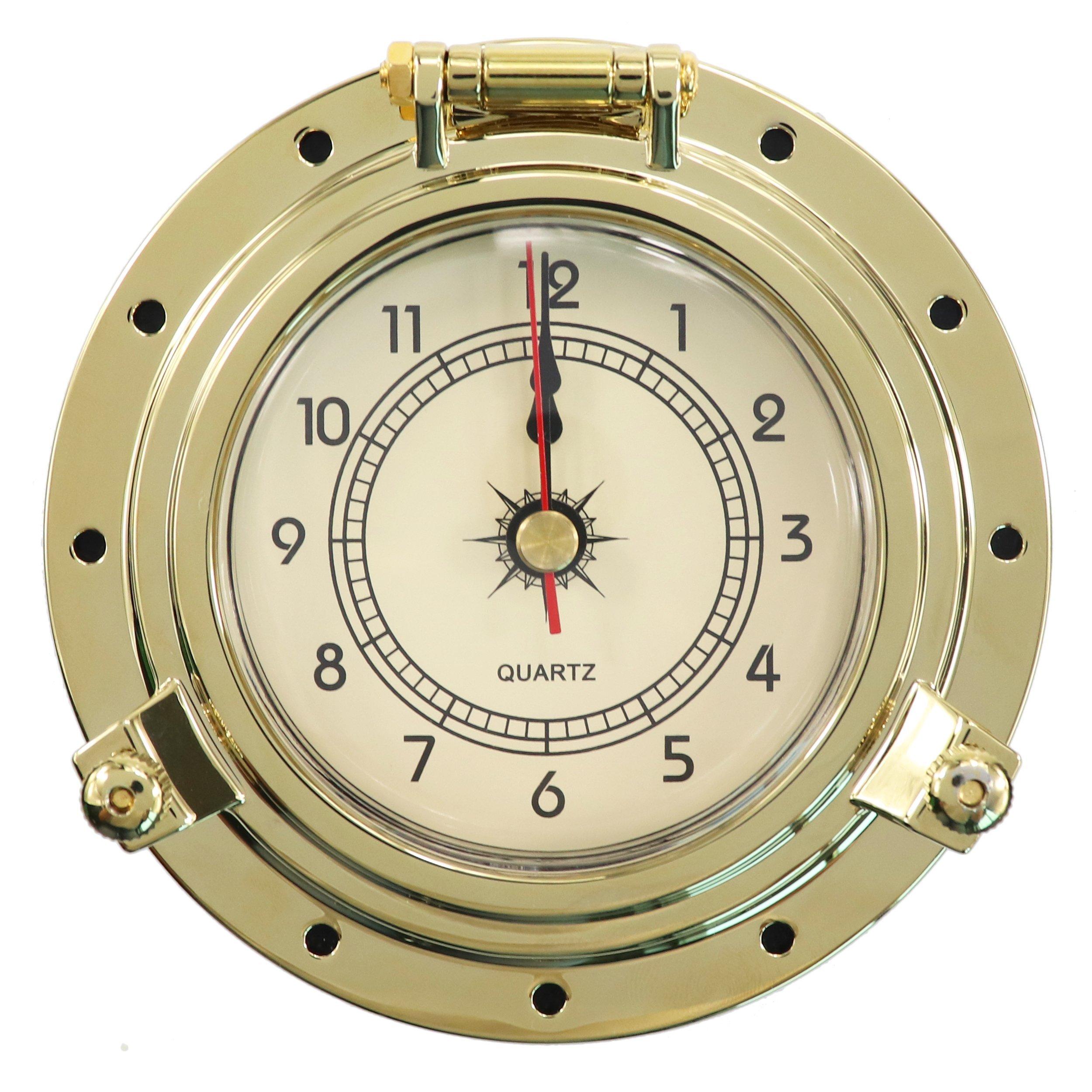 iztor Endurance Collection Quartz Brass Clock-Brass