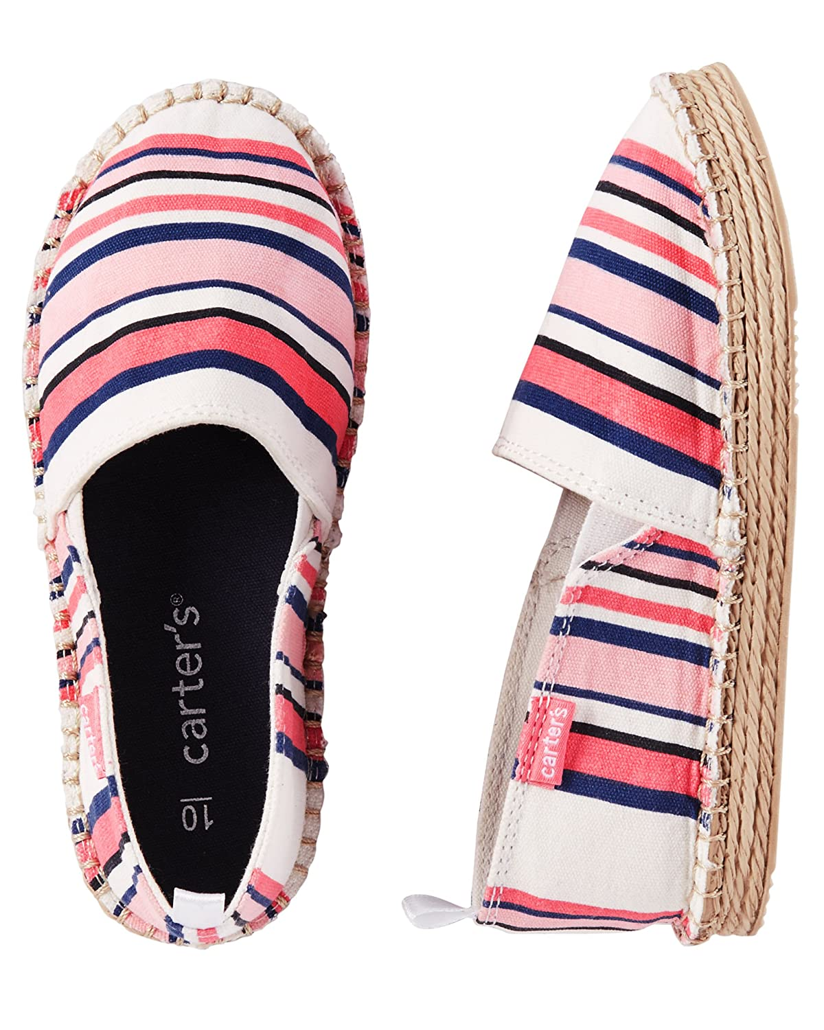 Multi Stripe OshKosh BGosh Baby Girls Slip-On Espadrilles Size 5