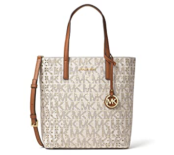7e63f922b22bf8 Amazon.com: MICHAEL Michael Kors Hayley Medium Top Zip North South Tote  Vanilla: Beauty